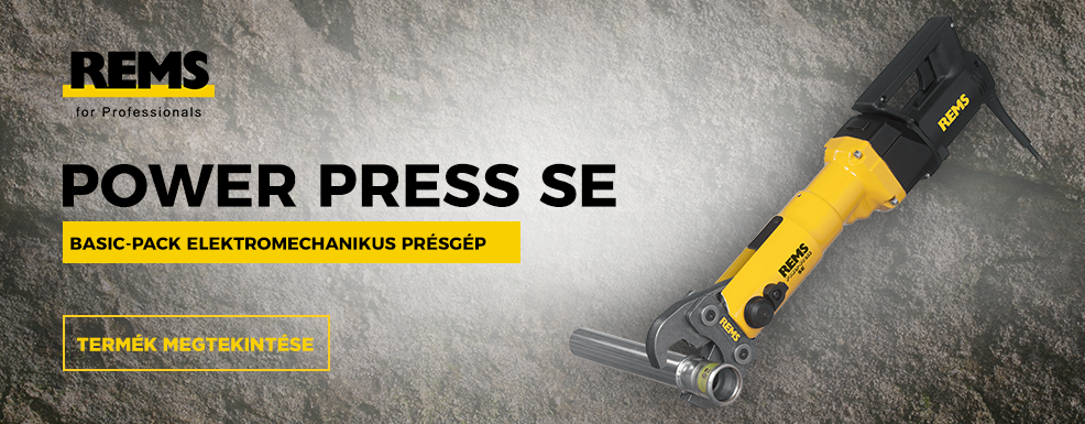REMS Power-Press SE univerzális présgép Ø 108 mm-ig