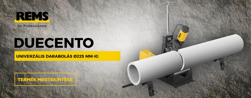 REMS DueCento univerzális darabolás Ø 225 mm-ig