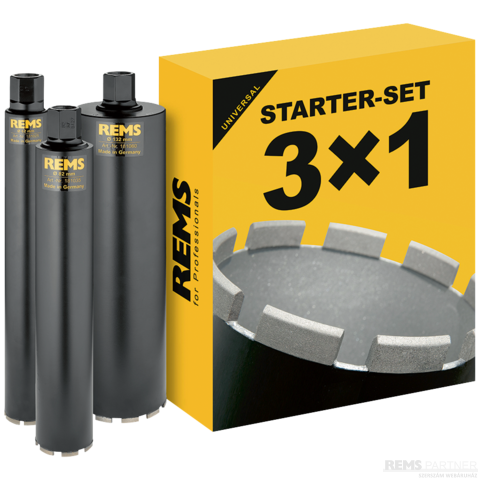 REMS fúrókorona szett UDKB Starter-Set 62-82-132
